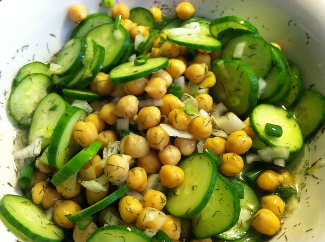 http://tuxedocat.us/2011/cucumber-chickpea-salad-with-grilled-napa-cabbage