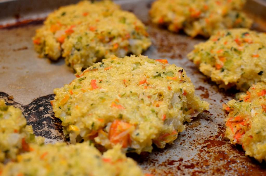 Millet Croquettes, Autumn Salad, & Quinoa Pudding - Tuxedo Cat