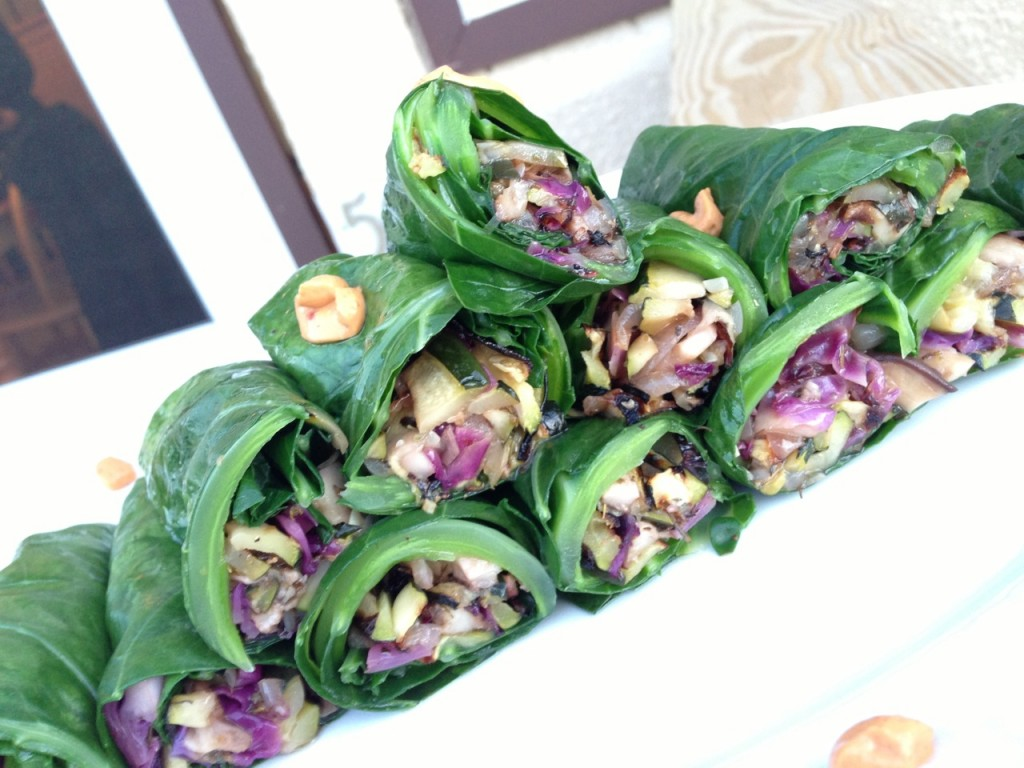 Summer Collard Wraps